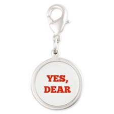 Yes, Dear Silver Round Charm