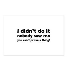I didn't do it. Postcards (Package of 8)