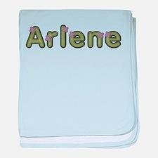 Arlene Spring Green baby blanket