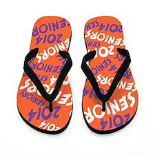 Orange Purple Senior Class OF 2014 Flip Flops