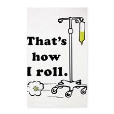 Thats how I roll 3'x5' Area Rug