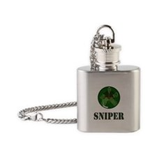 Night Vision Ice Hockey Sniper Flask Necklace
