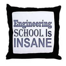 Engineering School Is Insane! Throw Pillow