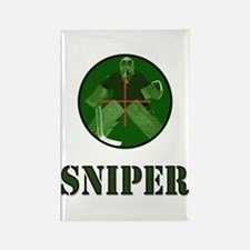 Night Vision Ice Hockey Sniper Rectangle Magnet