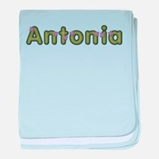 Antonia Spring Green baby blanket