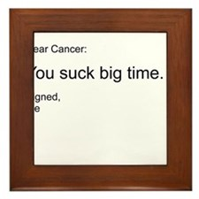 Cancer - You Suck Framed Tile