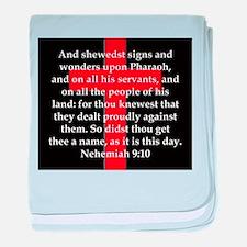 Nehemiah 9:10 baby blanket