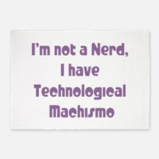 Technological Machismo 5'x7'Area Rug