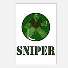 Night Vision Ice Hockey Sniper Postcards (Package