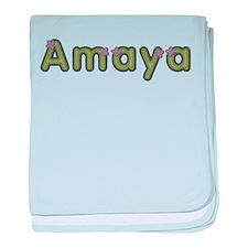 Amaya Spring Green baby blanket