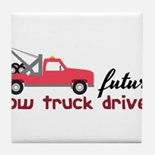 Future Tow Truck Driver Tile Coaster