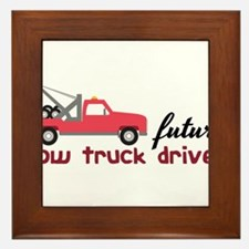 Future Tow Truck Driver Framed Tile