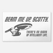 Beam Me Up Scotty Decal