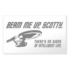 Beam Me Up Scotty Stickers