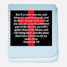 Nehemiah 1:9 baby blanket