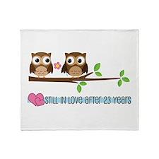 Owl 23rd Anniversary Throw Blanket
