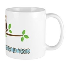 Owl 19th Anniversary Small Mug