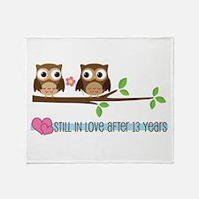 Owl 13th Anniversary Throw Blanket