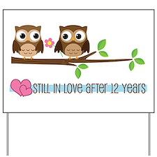 Owl 12th Anniversary Yard Sign