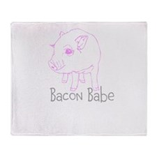 Bacon Babe Throw Blanket