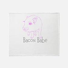 Bacon Babe Throw Blanket