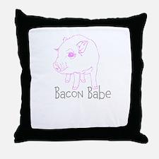Bacon Babe Throw Pillow