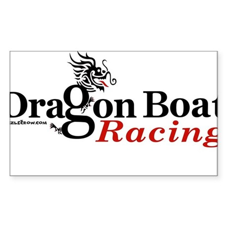DragonBoat Racing Oval Sticker