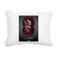Sci Fi Snow White Rectangular Canvas Pillow