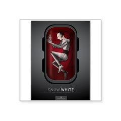 Sci Fi Snow White Square Sticker 3