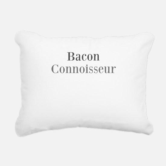 Bacon Connoisseur Rectangular Canvas Pillow