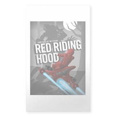 Sci Fi Red Riding Hood Decal