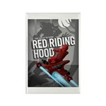Sci Fi Red Riding Hood Rectangle Magnet (100 pack)