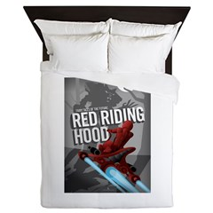 Sci Fi Red Riding Hood Queen Duvet