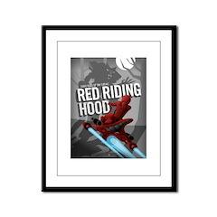 Sci Fi Red Riding Hood Framed Panel Print