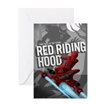 Sci Fi Red Riding Hood Greeting Card