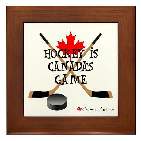 Canada's Game Framed Tile