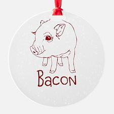 Bacon Pig Ornament