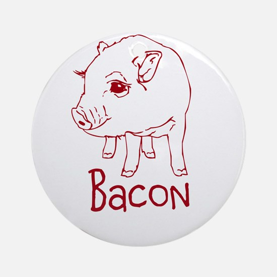 Bacon Pig Ornament (Round)
