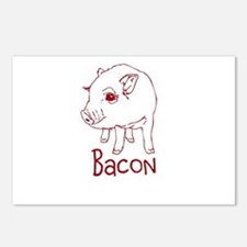 Bacon Pig Postcards (Package of 8)