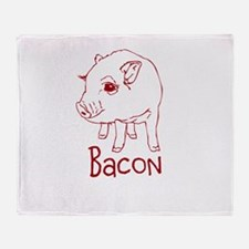 Bacon Pig Throw Blanket