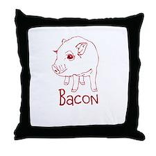 Bacon Pig Throw Pillow