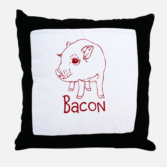 Bacon Pig Throw Pillow