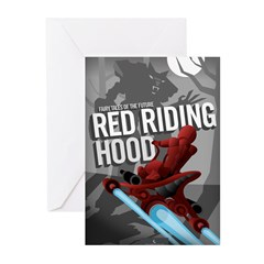 Sci Fi Red Riding Hood Greeting Cards (Pk of 20)