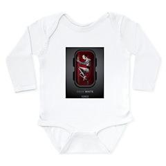 Sci Fi Snow White Long Sleeve Infant Bodysuit