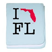 I Love Florida baby blanket