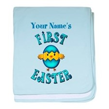 First Easter Personalized baby blanket