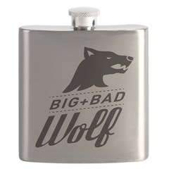 B&W Big Bad Wolf Flask