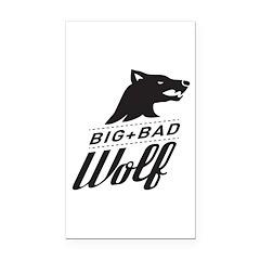 B&W Big Bad Wolf Rectangle Car Magnet