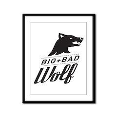 B&W Big Bad Wolf Framed Panel Print