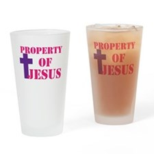 Property of Jesus Drinking Glass